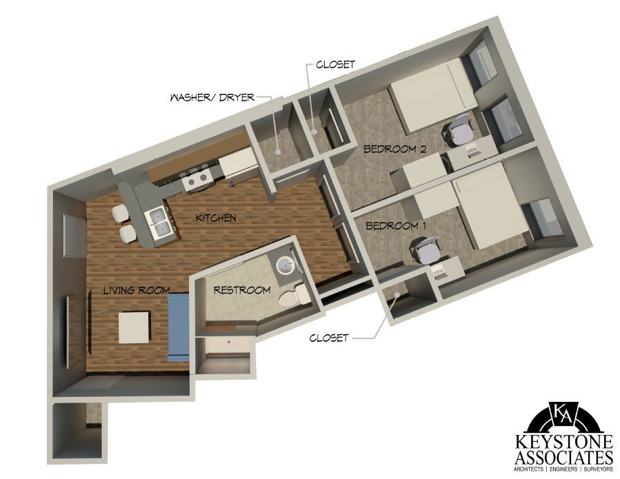 229 State St 2bed 2 - Layouts