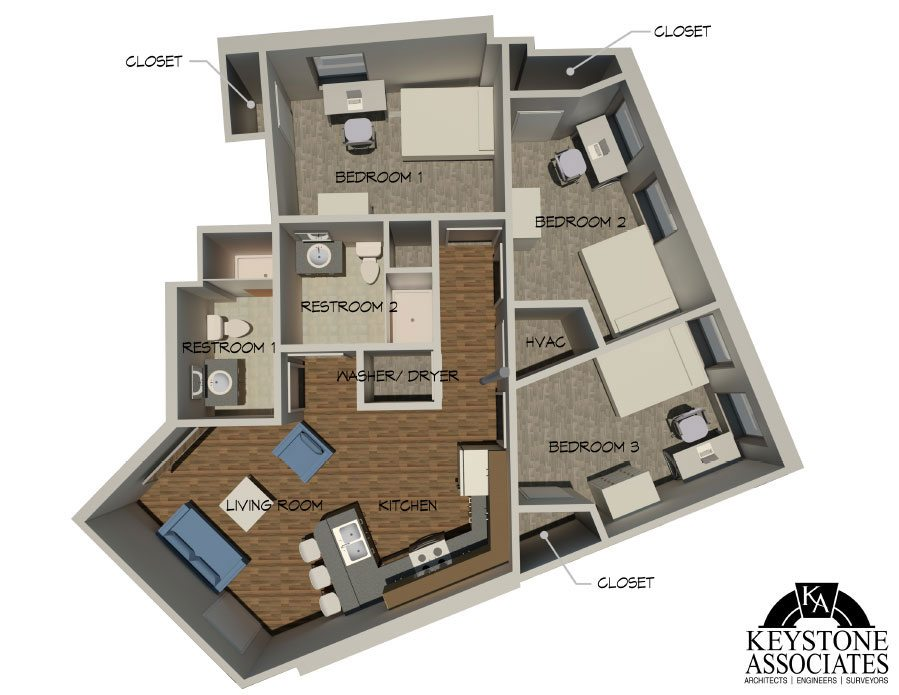 229 State St 3bed 1 - Layouts